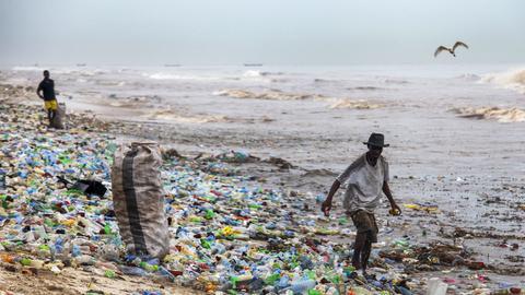 Plastik Müll Plastikmüll Meer Strand