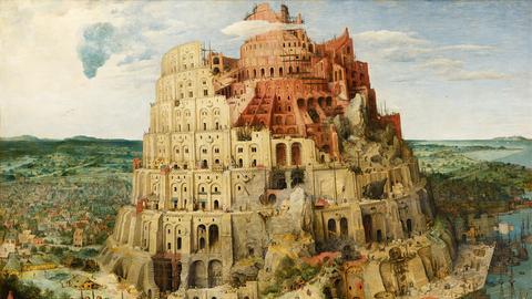 Pieter Bruegel der Ältere: Turmbau zu Babel, 1563, Kunsthistorisches Museum, Wien