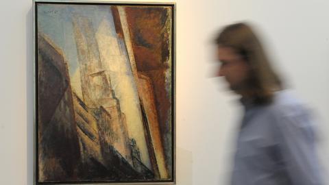 """Gemälde """"Manhatten II, 1940"""" des Deutsch-Amerikaners Lyonel Feininger (1871-1956)"""