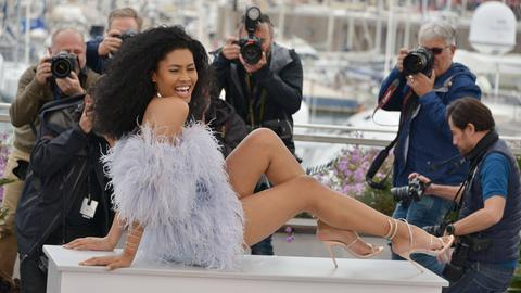 """Hauptdarstellerin Leyna Bloom beim Photoshooting zum Film """"Port Authority"""" auf dem Filmfestival in Cannes 2019"""