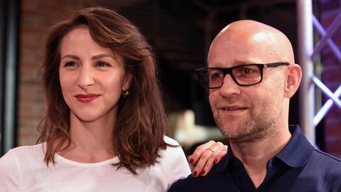 Die Schauspielerin Natalia Belitski und der Schauspieler Jürgen Vogel