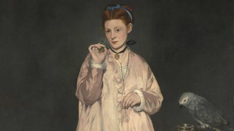 Junge Dame mit Papagei, Edouard Manet, 1866