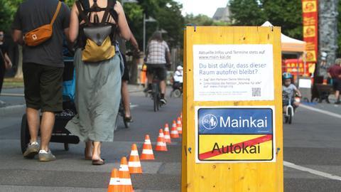 Fußgängerzone Mainkai Frankfurt