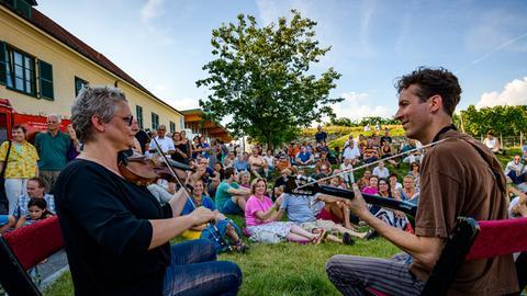 Musik unterm Marillenbaum auf dem Glatt & Verkehrt Festival