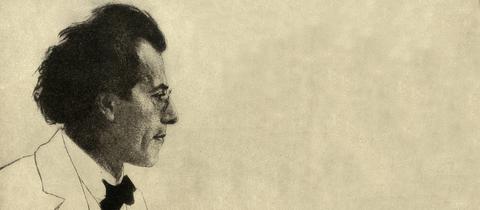 Gustav Mahler, Radierung von Emil Orlik, 1902