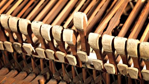 Hammer in einem frühen Hammerklavier