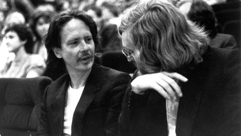 Peter Handke (li.) und Raimund Fellinger