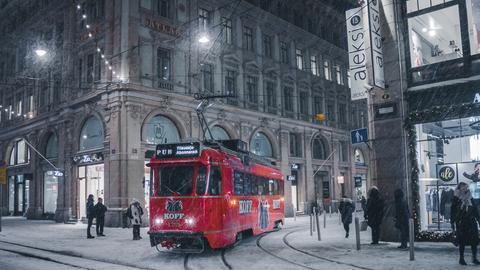 In der Innenstadt von Helskinki