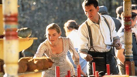 Szene aus Herzen in Aufruhr mit Kate Winslet und Christopher Eccleston