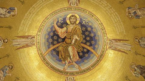 Himmelfahrt Jesu Christi in der St. Sava-Kirche von Belgrad, Serbien