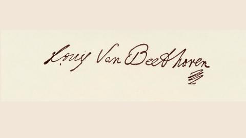 Ludwig van Beethoven | Signatur