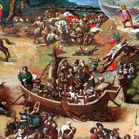 Detail aus dem Bauernkriegspanorama von Werner Tübke, Bad Frankenhausen
