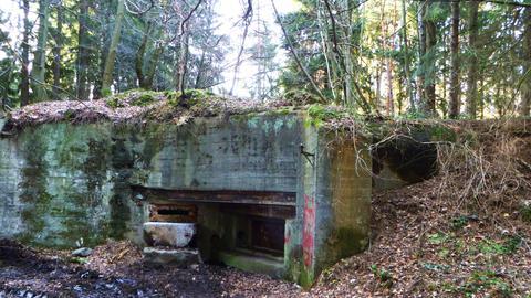 Bunker aus dem Zweiten Weltkrieg bei Aachen