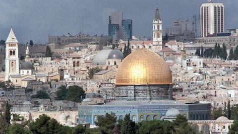 Blick auf die Altstadt Jerusalems mit Felsendom