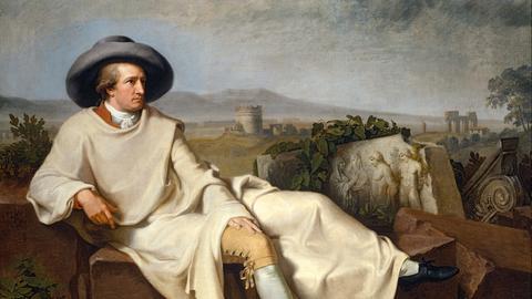 Goethe in der Campagna, Gemälde von Johann Heinrich Wilhelm Tischbein, 1787, Städel, Frankfurt