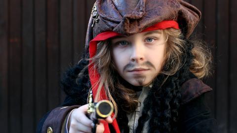 Kind Pirat Junge Räuber