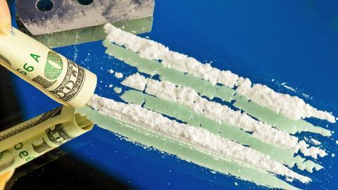 Kokain Geldschein Dollar