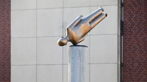 Skulptur vor dem Kunstverein Coesfeld