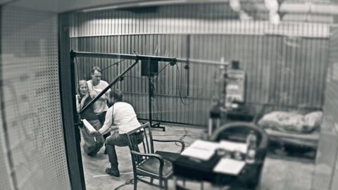Blick ins Hörspielstudio