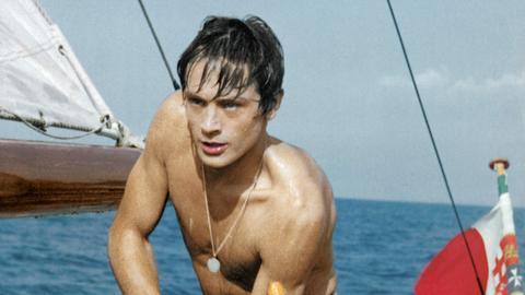 "Alain Delon in der Rolle als ""Tom Ripley"" in dem Film ""Plein Soleil"""