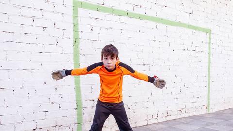 Torwart Junge Fußball