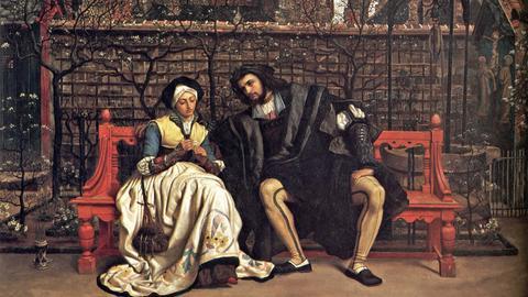 James Tissot: Faust und Margarete im Garten, 1881