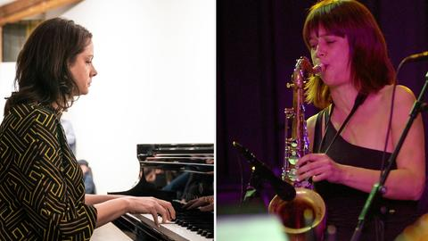 Pianistin Kris Davis und Saxofonistin Ingrid Laubrock
