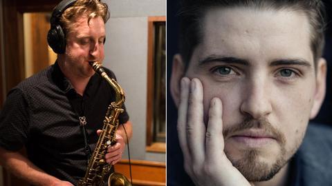 Collage Porträts von Saxofonist Loren Stillman und Pablo Held