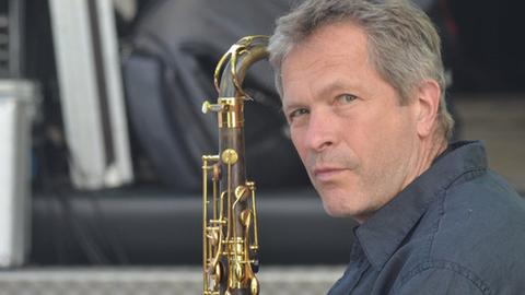 Christof Lauer mit Saxofon