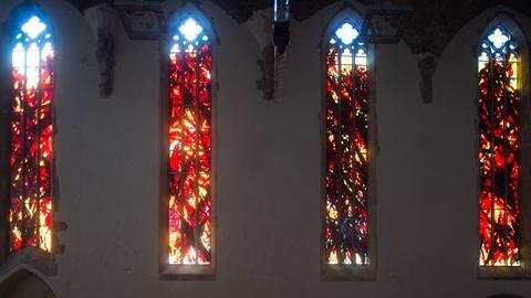 Johanniskirche Magdeburg Glasfenster von Max Uhlig