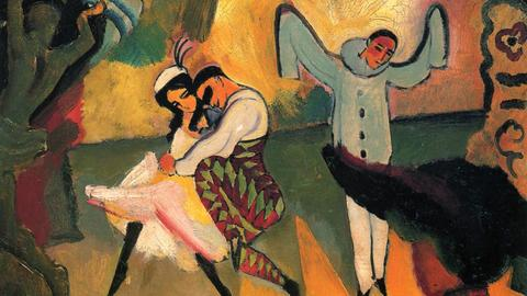 August Macke: Russisches Ballett, 1912, Kunsthalle Bremen