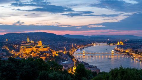Blick über Budapest an der Donau