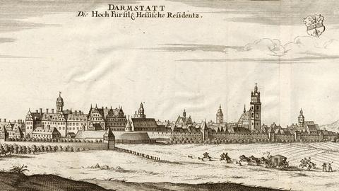 Die Residenzstadt Darmstadt, 1710