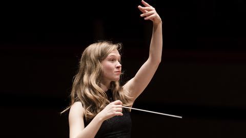 Die Dirigentin Mirga Grazinyte-Tyla