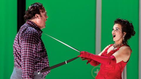 "Bryn Terfel und  Olga Peretyatko in ""Don Pasquale"" aus dem Londoner Royal Opera House"