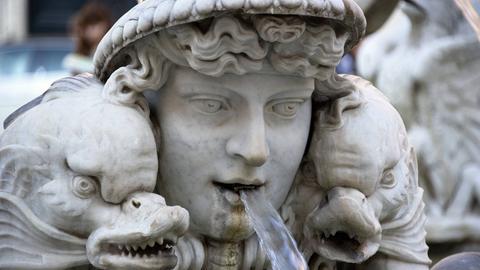 Brunnenfigur an der Fontana del Moro, Rom