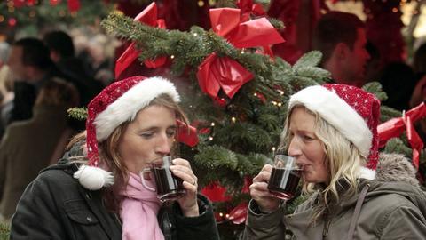 Glühwein Weihnachten Weihnachtseinkäufe