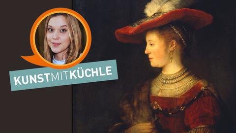 Rembrandt van Rijn: Saskia im Profil in reichem Kostüm (1633-1642)