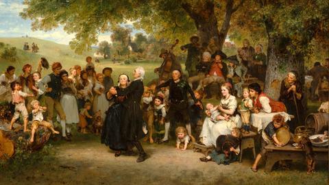 Ludwig Knaus, Die goldene Hochzeit, 1859