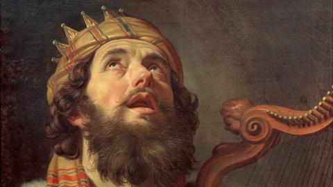 Gerard van Honthorst: König David spielt Harfe