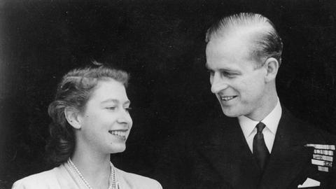 Königin Elisabeth und Prinz Philip 1947