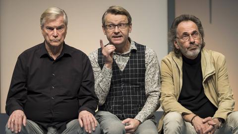 Komplexe Väter: Jochen Busse, Rene Heinersdorff und Hugo Egon Balder