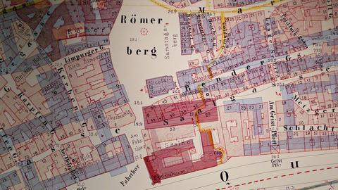 Lageplan Historisches Museum Frankfurt