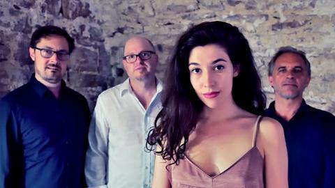 Laura Kipp mit ihrer Band (Jens Loh, Willam Lecomte und Eckhard Stromer)