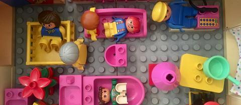 Haus aus Lego von innen