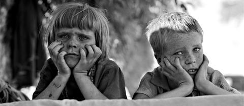 Dorothea Lange Kinder Oklahoma Depression 1936