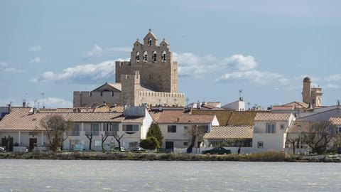 Kirche Notre-Dame-de-la-Mer, Saintes-Maries de la Mer, Camargue, Provence-Alpes-Côte d Azur, Frankreich