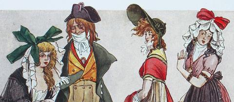 Frankreich Kostüme Revolution Mode