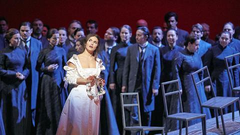 """Szenenfoto """"Lucia di Lammermoor"""" an der Wiener Staatsoper"""