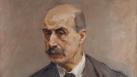 Max Liebermann: Selbstbildnis mit Pinsel, 1913